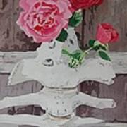 Bones And Roses Art Print