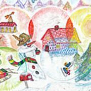 Bonnefemme De Neige / Snow Woman Art Print