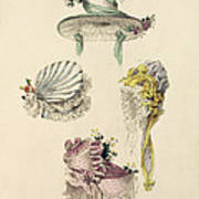 Bonnets For An Occasion, Fashion Plate Art Print