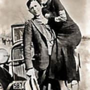 Bonnie And Clyde - Texas Art Print