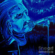 Bono In Blue Art Print
