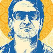 Bono Pop Art Art Print by Jim Zahniser