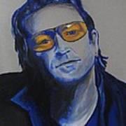 Bono U2 Art Print