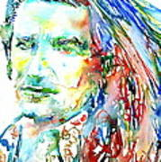 Bono Watercolor Portrait.2 Art Print
