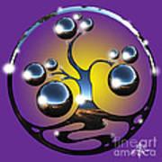 Bonsai Chrome Logo Art Print