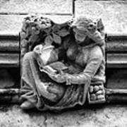 Book Reading  Gargoyle 2009 Art Print