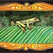 Puravida Frog Art Print