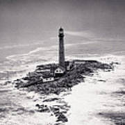 Boon Island Light Tower Circa 1950 Art Print by Aged Pixel