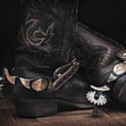 Boots And Spurs Print by Krasimir Tolev