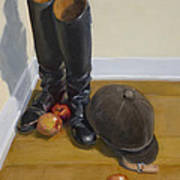 Boots Apples And Hard Hat Art Print