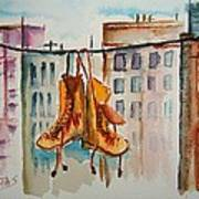 Boots On A Wire Art Print
