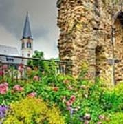 Boppard Garden Ruins Art Print