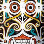 Borneo Shield Ornaments  Art Print