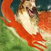 Borzoi Art - Hunting In The Ussr Poster Art Print
