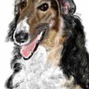 Borzoi Handsome Art Print