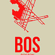 Bos Boston Airport Poster 1 Art Print