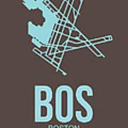 Bos Boston Airport Poster 2 Art Print