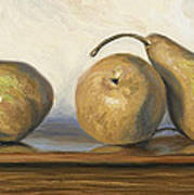 Bosc Pears Art Print by Lucie Bilodeau
