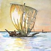 Boso Sailing Boat Art Print