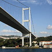 Bosphorus Bridge Istanbul Art Print