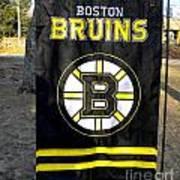 Boston Bruins Flag Art Print