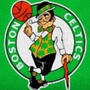 Boston Celtics Canvas Art Print by Dan Sproul