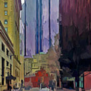 Boston City Centre 2 Print by Yury Malkov