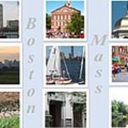 Boston Collage Art Print
