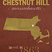 Boston College Eagles Chestnut Hill Massachusetts College Town State Map Poster Series No 020 Art Print