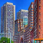 Boston Financial District Art Print