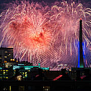 Boston Fireworks 1 Art Print