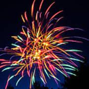 Boston Fireworks Art Print