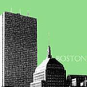 Boston Hancock Tower - Sage Art Print