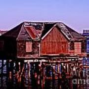 Boston Harbor Pier Dwelling Art Print