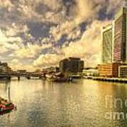Boston Harbour  Art Print