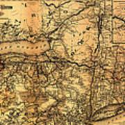 Boston Hoosac Tunnel And Western Railway Map 1881 Art Print
