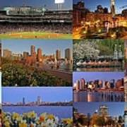 Boston Landmarks Photography  Print by Juergen Roth