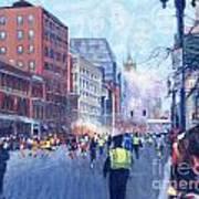 Boston Marathon Angels Art Print