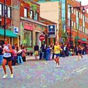 Boston Marathon Mile Twenty Two Art Print