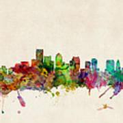 Boston Massachusetts Skyline Print by Michael Tompsett