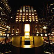 Boston - Night At Post Office Square Art Print