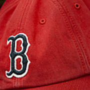 Boston Red Sox Baseball Cap Art Print