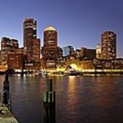 Boston Skyline And Fan Pier Art Print by Juergen Roth