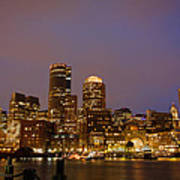 Boston Skyline Blue Hour Art Print by Stewart Mellentine
