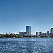 Boston Skyline II Art Print