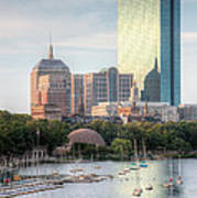 Boston Skyline II Art Print