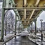 Boston Streetcar Overpass-cambridge V2 Art Print