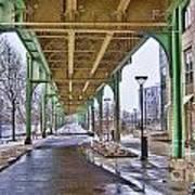 Boston Streetcar Overpass Art Print