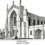 Boston University Marsh Chapel Art Print