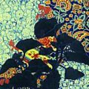 Botanical Klimt Art Print